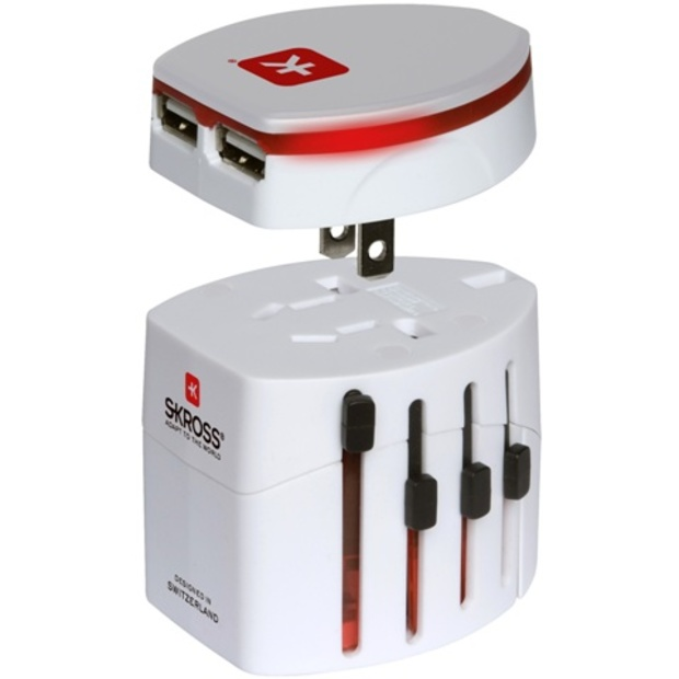 מתאם חשמל בינלאומי - WORLD ADAPTER EVO USB SKROSS