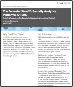 Forrester Wave Security Analytics Platforms Q1 2017