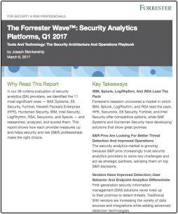 Plataformas de análisis de seguridad Forrester Wave T1 2017