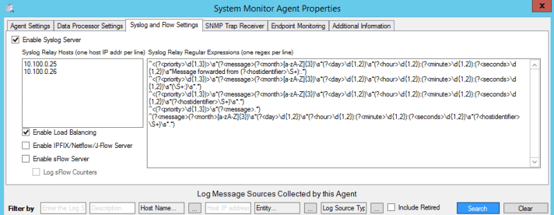 SysMon Agent Advanced Properties