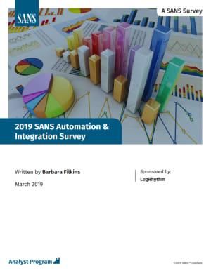 SANS Automation and Integration Survey 2019