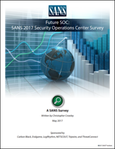 SANS 2017 Security Operations Center Survey image
