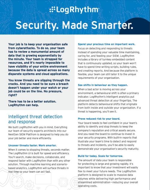 Security Made Smarter with LogRhythm