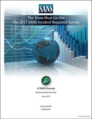 SANS 2017 Incident Response Survey image