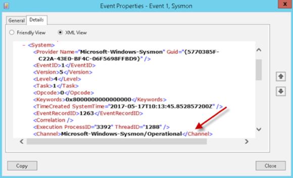 Event Properties XML View
