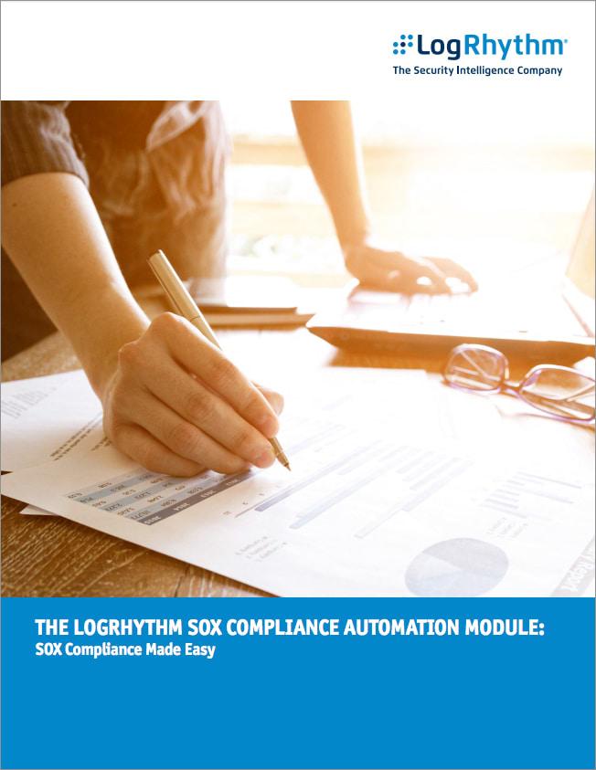 El módulo de automatización de cumplimiento SOX de LogRhythm