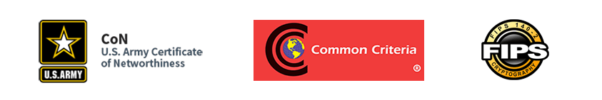DoD certification logos