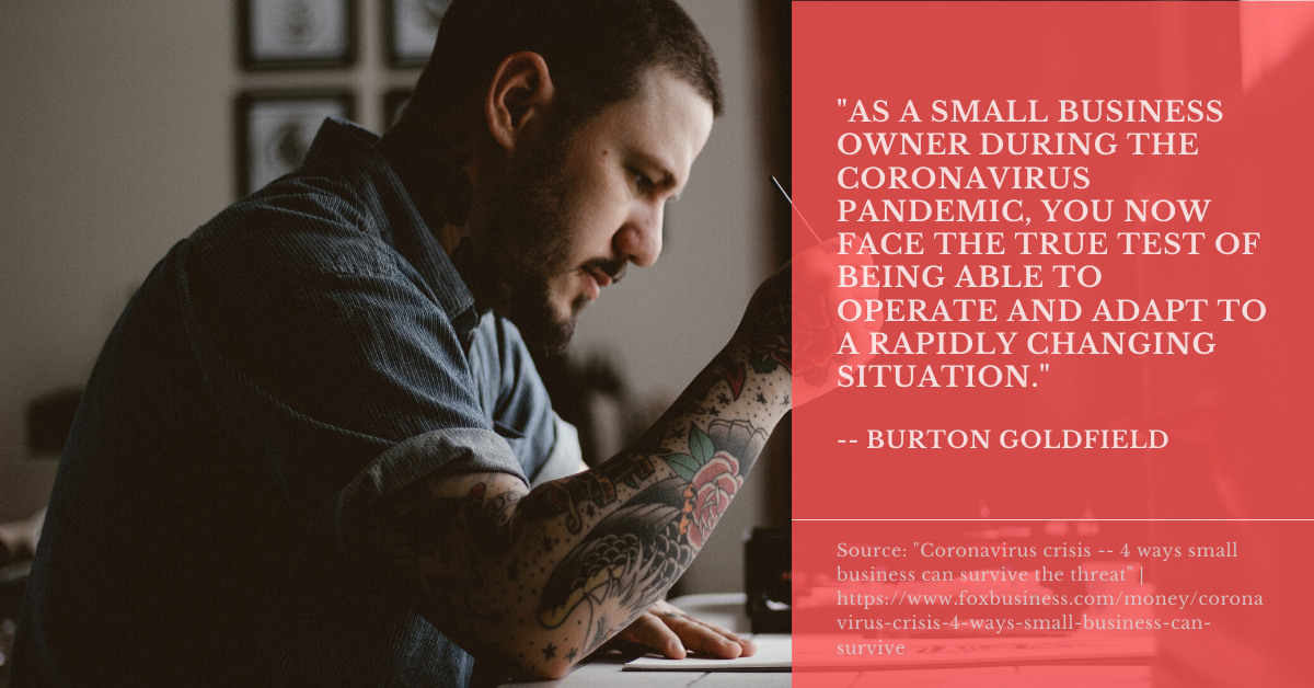 A quote from Burton Goldfield.
