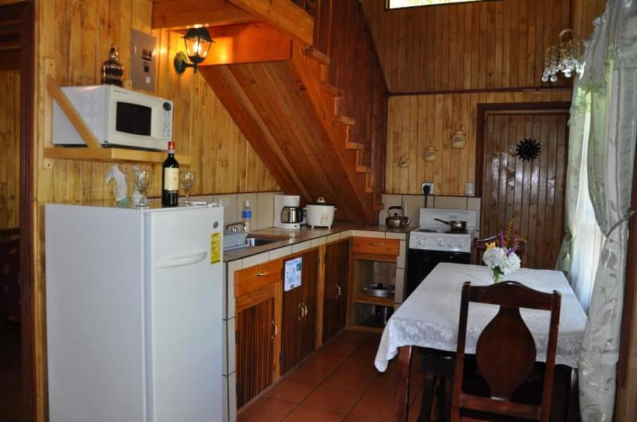Sueños del Bosque Lodge Lakeside Cabins near Quetzales National Park San Gerardo de Dota Costa Rica Bungalow with Kitchen