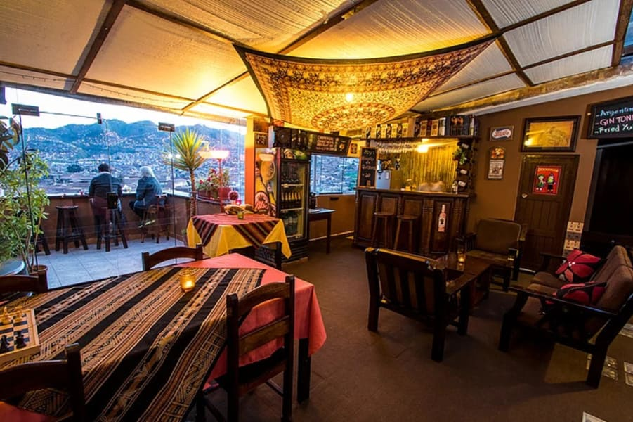 Hostal Wara Wara Cusco Cusco Peru The restaurant and lounge area