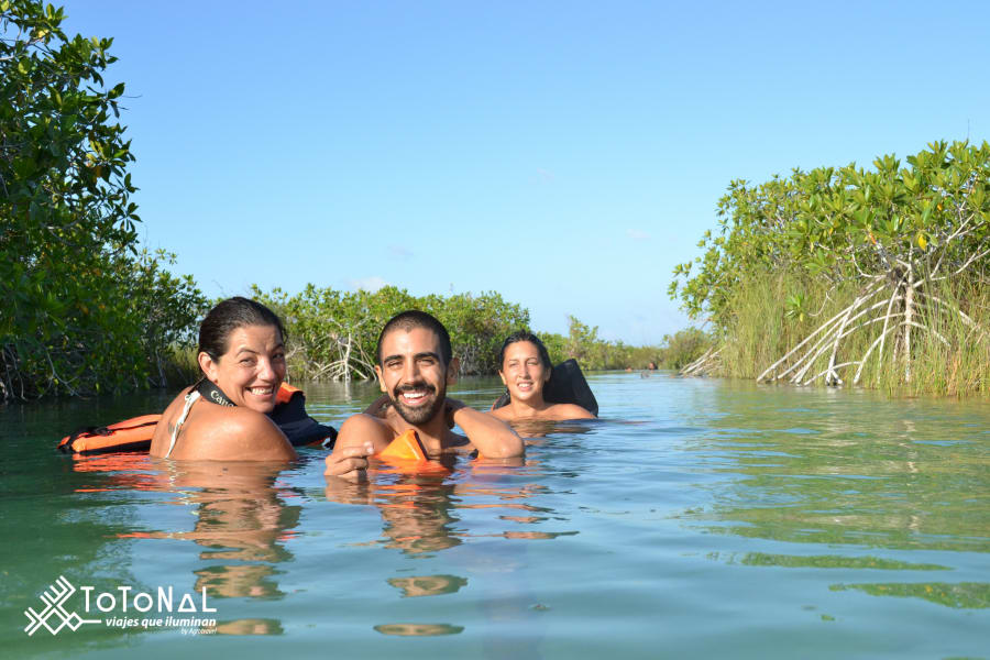 Totonal Viajes que Iluminan Immerse yourself in the Mayan culture Tulum and Sian Ka'an Mexico Muyil canals