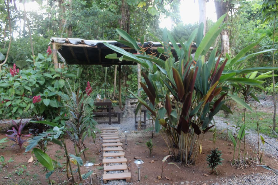Drake Bay Backpackers Hostel in Quiet Village of El Progreso  San Jose Costa Rica BBQ Area