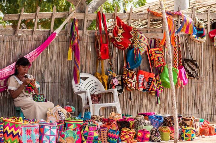 ZAIA Travel Wayuu Caribbean Experience Cartagena  Colombia Las mochilas woven by local Wayuu women.