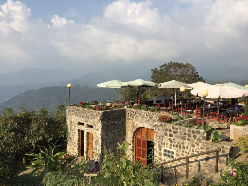Lokal Adventures Immersive Guatemalan Culture and Nature Adventure Antigua to Peten Guatemala Enjoy a meal with a view overlooking Antigua