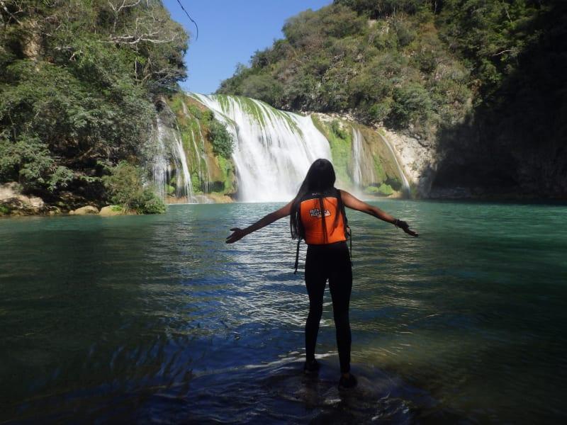 Ruta Huasteca  Huasteca Potosina Nature Adventure Ciudad Valles Mexico Cascada de Minas Waterfall