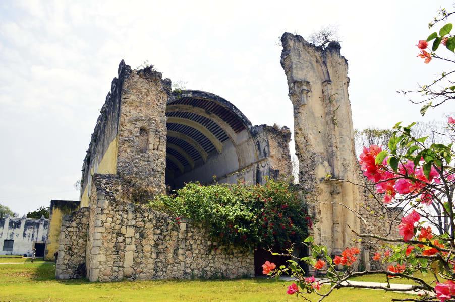 Sian Ka'an Community Tours Ximbaal Mayan Circuit Tulum Mexico Iglesia Tihosuco