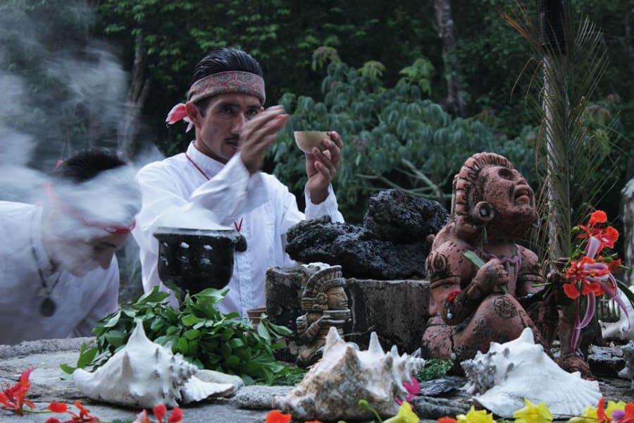 Sian Ka'an Community Tours Temaz Ka'an Mayan Sauna and Cenote Tulum Mexico Ceremony & Temazcal ritual