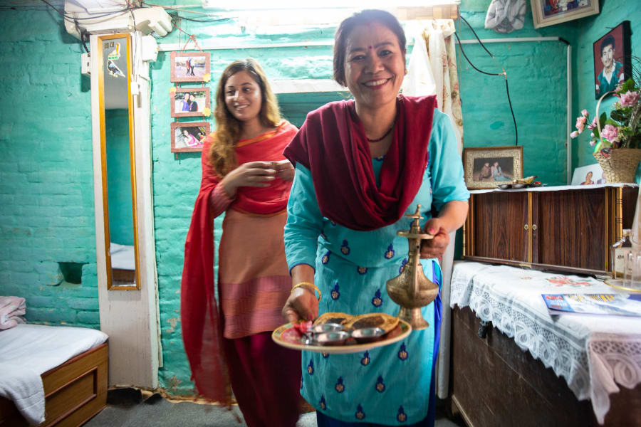 Royal Mountain Travel Experience the Culture of Nepal: An All-Women Adventure with Victoria Hart Kathmandu Nepal Meet some of your lovely hosts at a local homestay