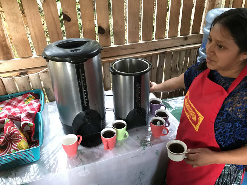 Lokal Adventures Immersive Guatemalan Culture and Nature Adventure Antigua to Peten Guatemala Serving fresh tea at the Chirrepeco community!