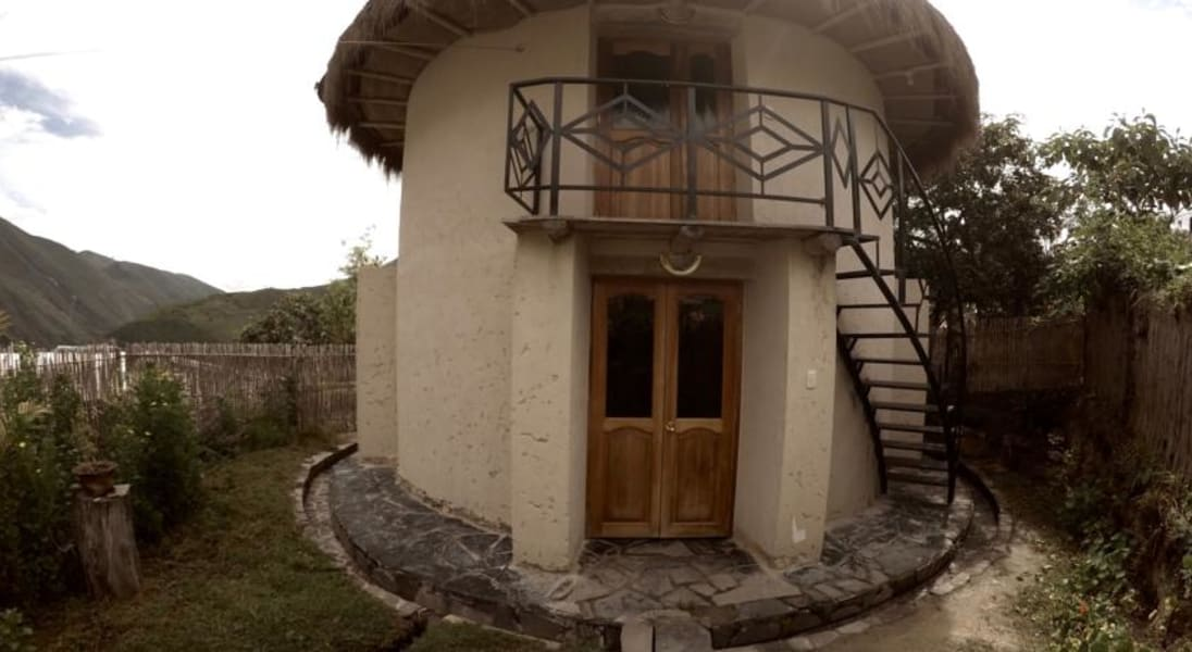 Eko Kuelap Lodge and Tours Nuevo Tingo Peru The two story Grand Choza