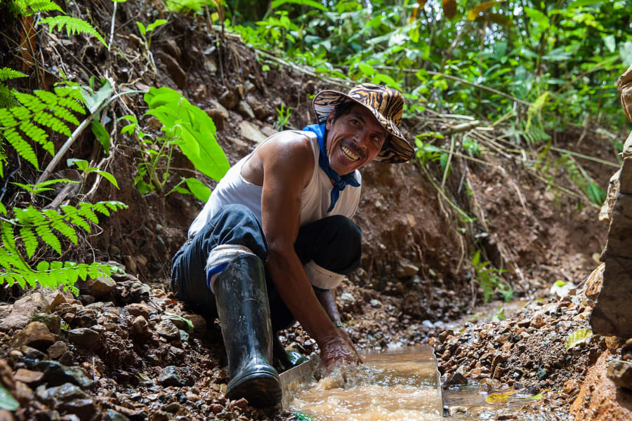 Lokal Adventures Jungle Yoga Adventure Los Planes Costa Rica Learning how to mine for gold!