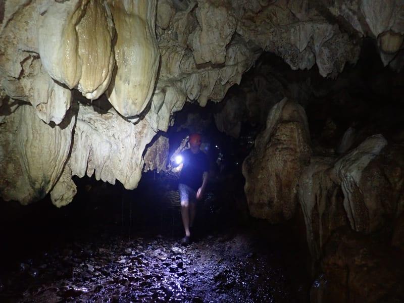 Ruta Huasteca  Huasteca Potosina Rafting & Rappelling Adventure Ciudad Valles Mexico Exploring through the Grotto of Xilo.