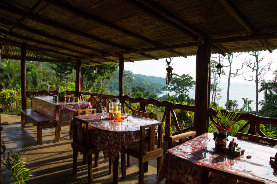Lokal Adventures Epic Osa Rainforest Adventure Osa Peninsula Costa Rica With that view the food here doesn't have to be delicious...but it is anyway :)