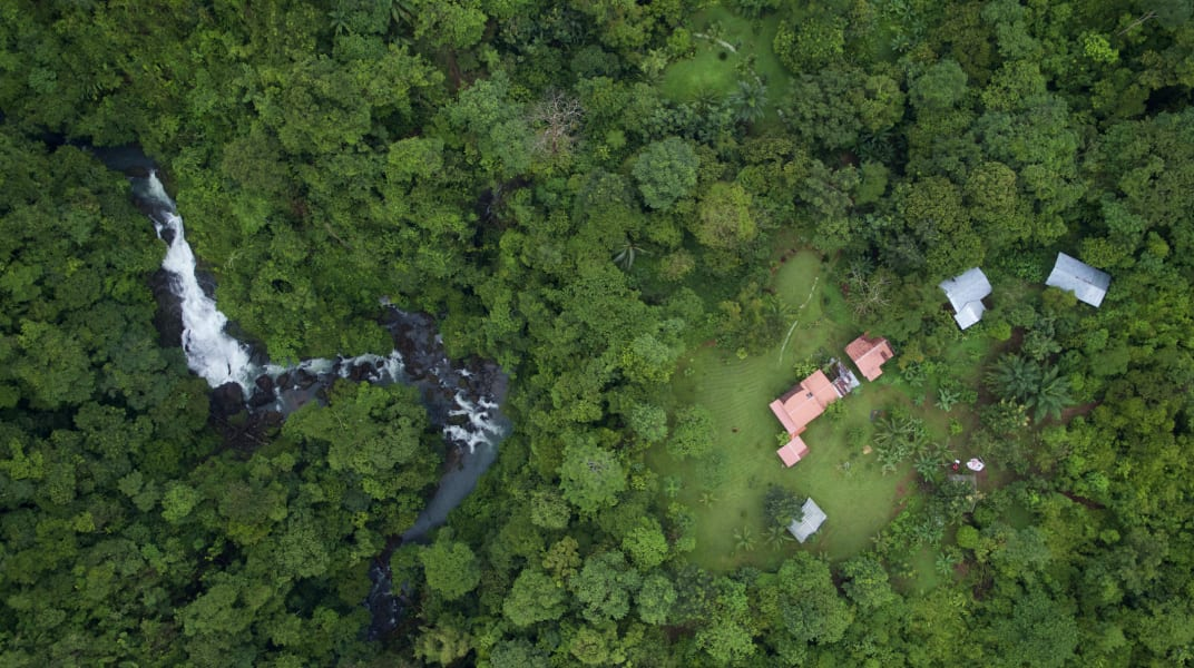 Lokal Adventures Test Adventure Los Planes Costa Rica Birds eye view of Naguala Ecolodge