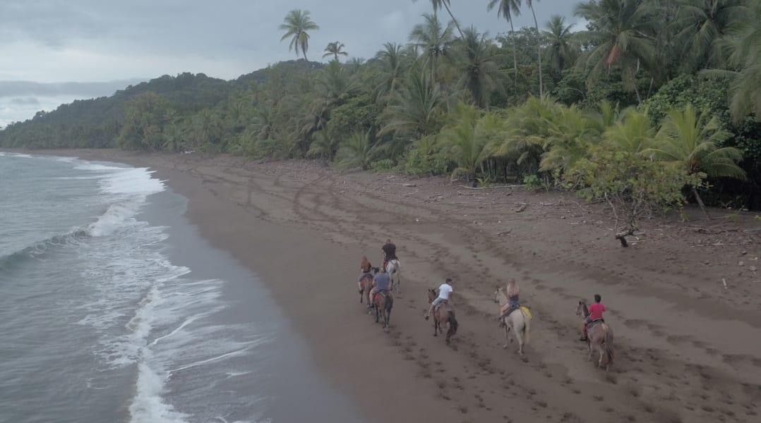 Lokal Adventures Jungle Yoga Adventure Los Planes Costa Rica Horseback riding on Rincon beach!