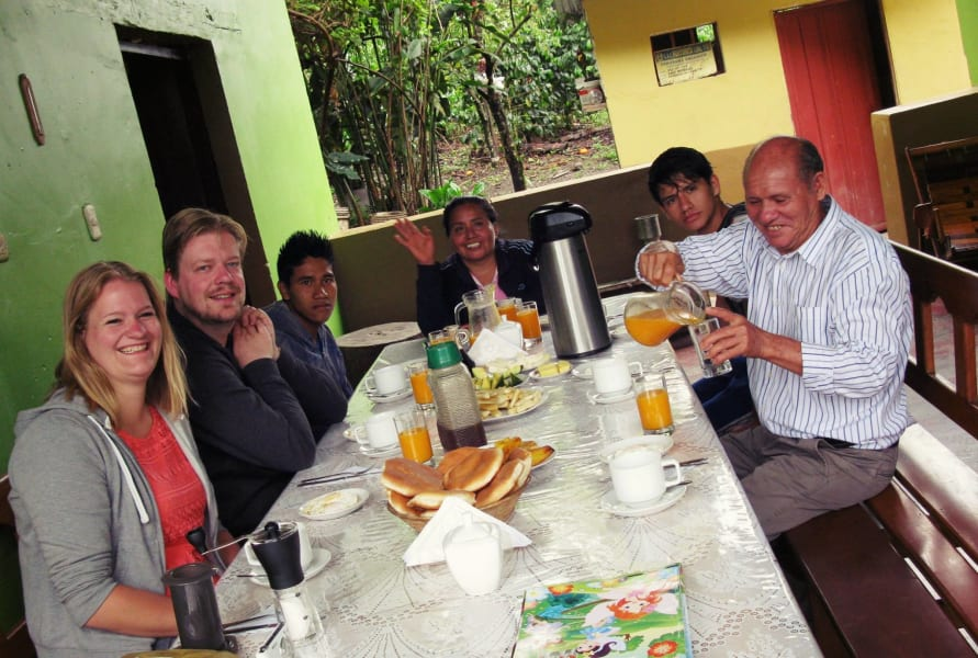 Cocla Tours Coffee or Cacao Tour in the Jungle of Cusco Cusco Peru Breasfast with the family