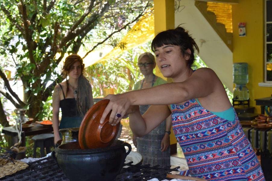 Ixiim Cooking School Learn to Cook Traditional Guatemalan food San Pedro la Laguna Guatemala null