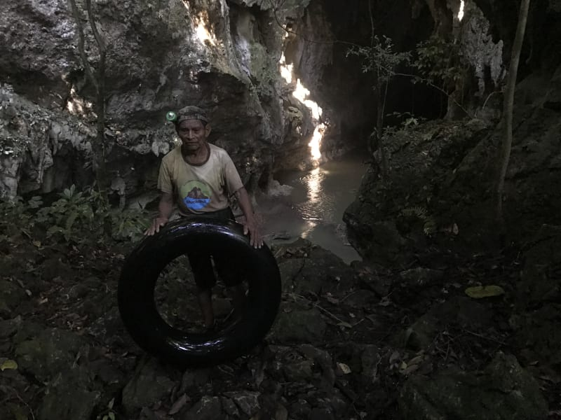 Lokal Adventures Immersive Guatemalan Culture and Nature Adventure Antigua to Peten Guatemala Finishing up a tubing adventure at the Mucbilha community