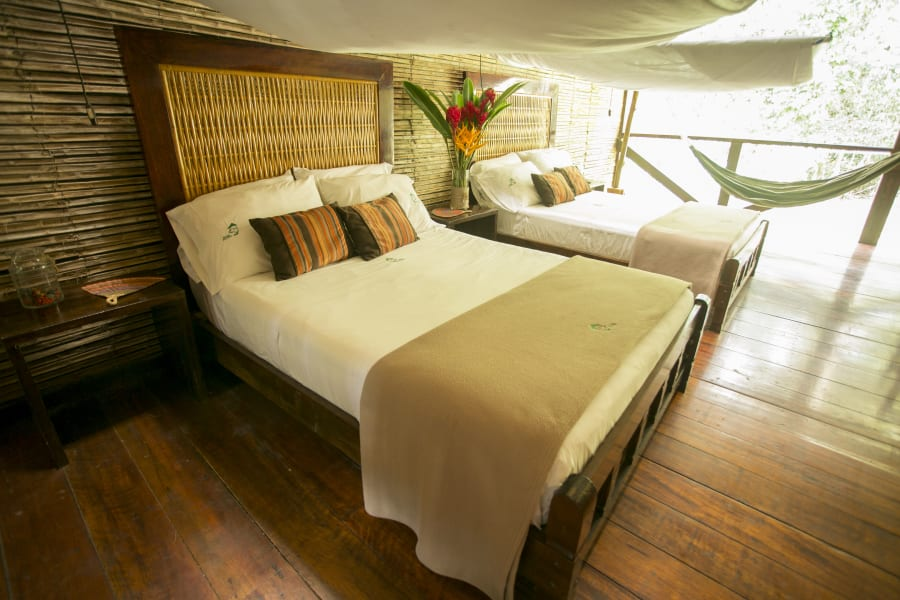 Rainforest Expeditions Refugios Amazonas Eco Lodge: Nature Adventure in Tambopata Reserve  Puerto Maldonado Peru Comfort Room