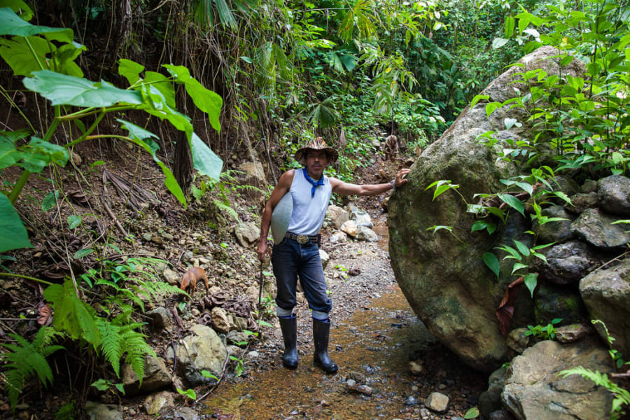 Lokal Adventures Epic Osa Rainforest Adventure Osa Peninsula Costa Rica Try your hand at traditional gold mining with Juan as your guide!