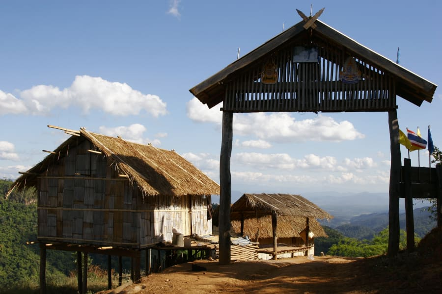 Lisu Lodge Lisu Lodge Trekking and Hill Tribe Village Adventure Chiang Mai Thailand View from Lahu village