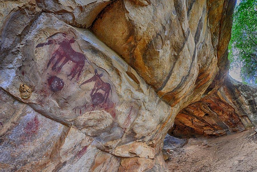 Transfrontier Parks Destinations Limpopo Wildlife and Cultural Adventure Phalaborwa South Africa Rock art near Awelani
