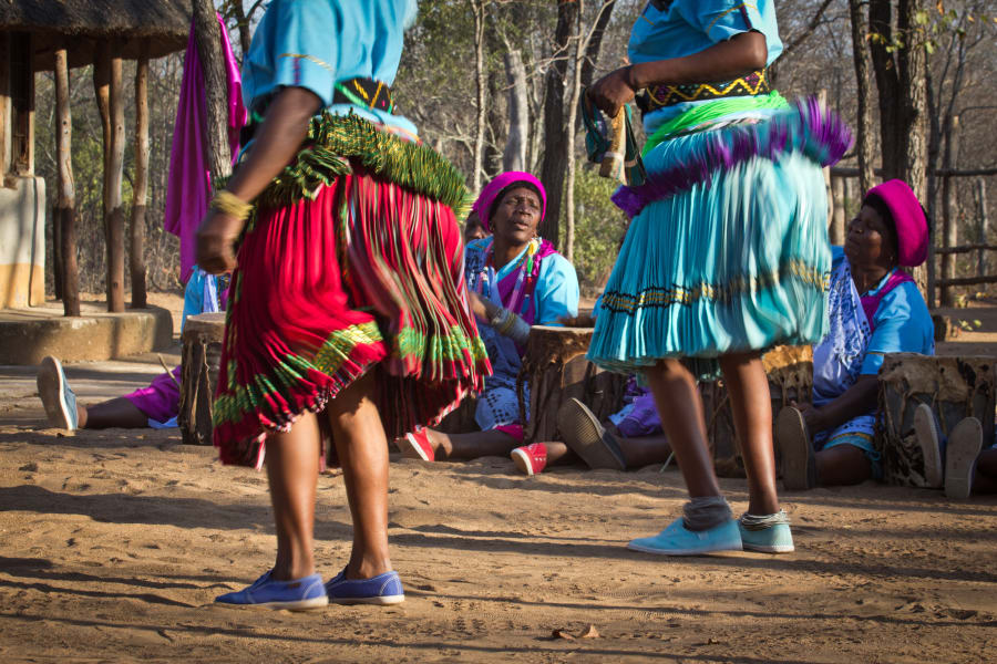Transfrontier Parks Destinations Limpopo Wildlife and Cultural Adventure Phalaborwa South Africa Learning traditional dance with the Baleni community