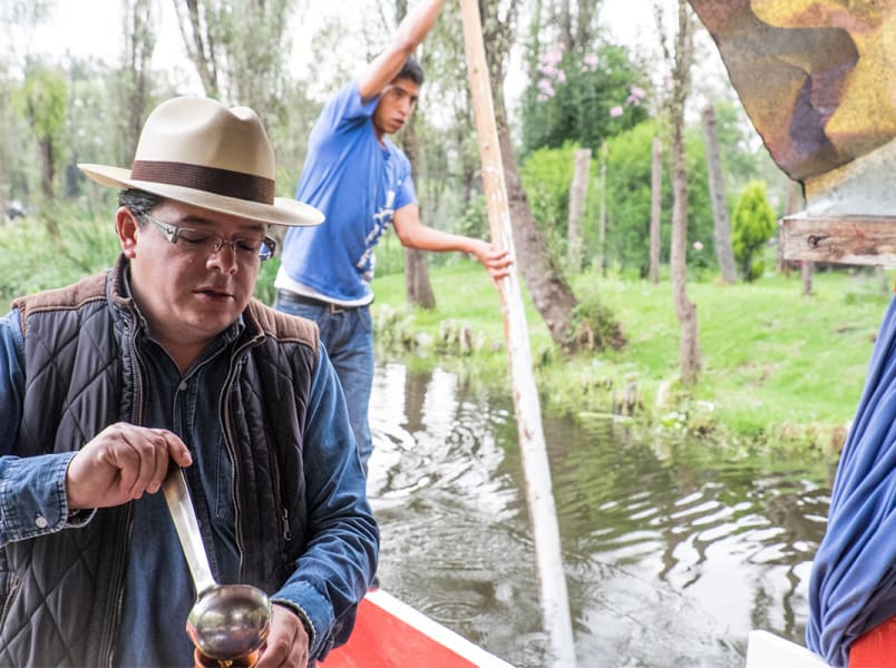 De la Chinampa Xochimilco Floating Gardens, Canals and Local Food Mexico City Mexico De la Chinampa founder, Ricardo Rodigriguez. Photo credit: Naomi Tomky, Smithsonian