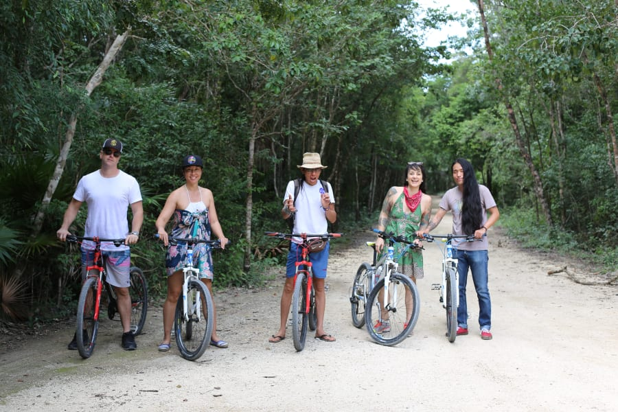 photos of classic tulum bike tour in mexico lokal travel