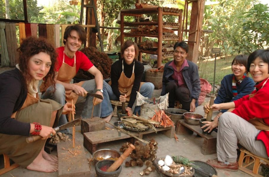 Ock Pop Tok Lao Weaving and Natural Dyes Class Luang Prabang Laos undefined