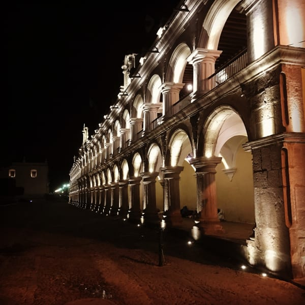 Lokal Adventures Immersive Guatemalan Culture and Nature Adventure Antigua to Peten Guatemala Guatemala's colonial capital - Antigua at night