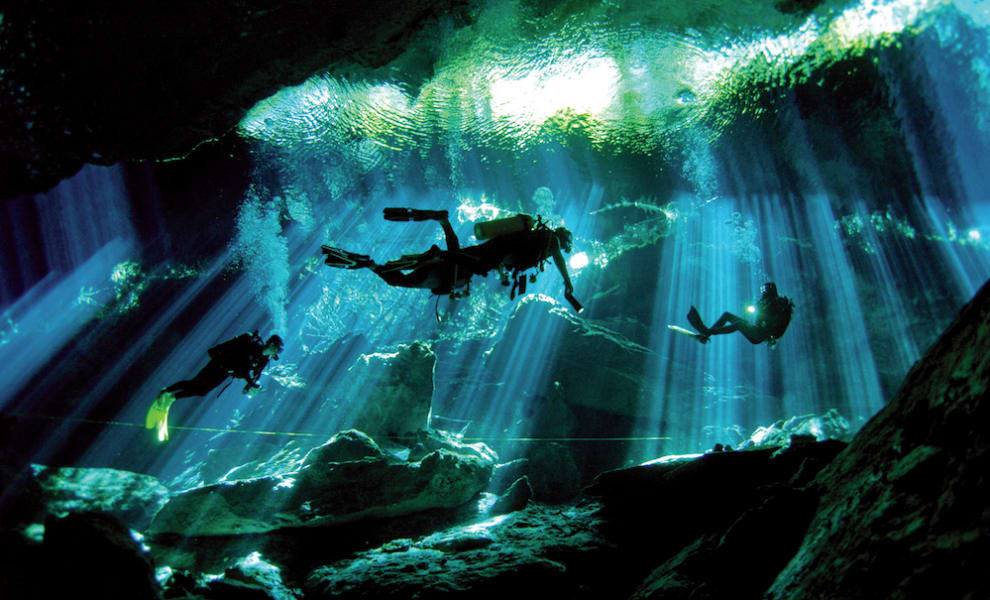 Totonal Viajes Explore Tulum's Nature: Cenotes and Caribbean Biosphere Tulum Mexico Scuba diving in the cenote