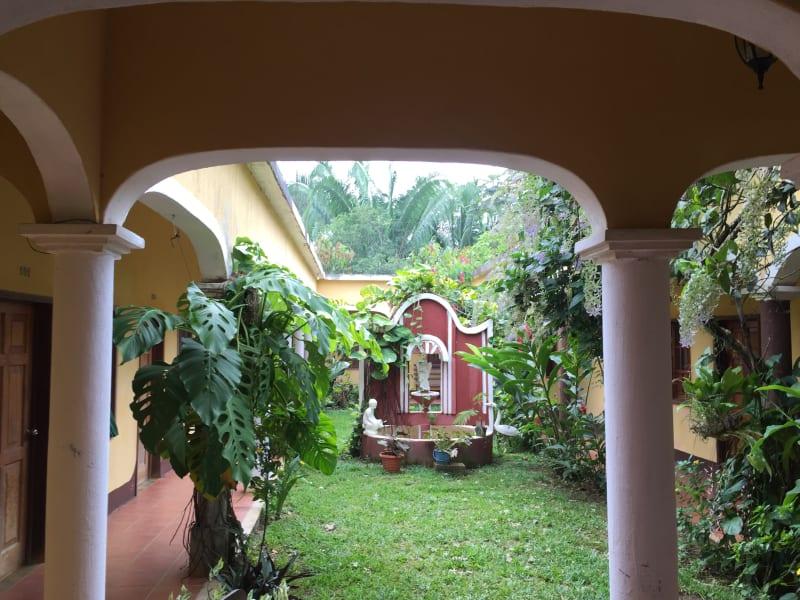 Lokal Adventures Immersive Guatemalan Culture and Nature Adventure Antigua to Peten Guatemala The inner gardens of Hotel Villa Santa Elena