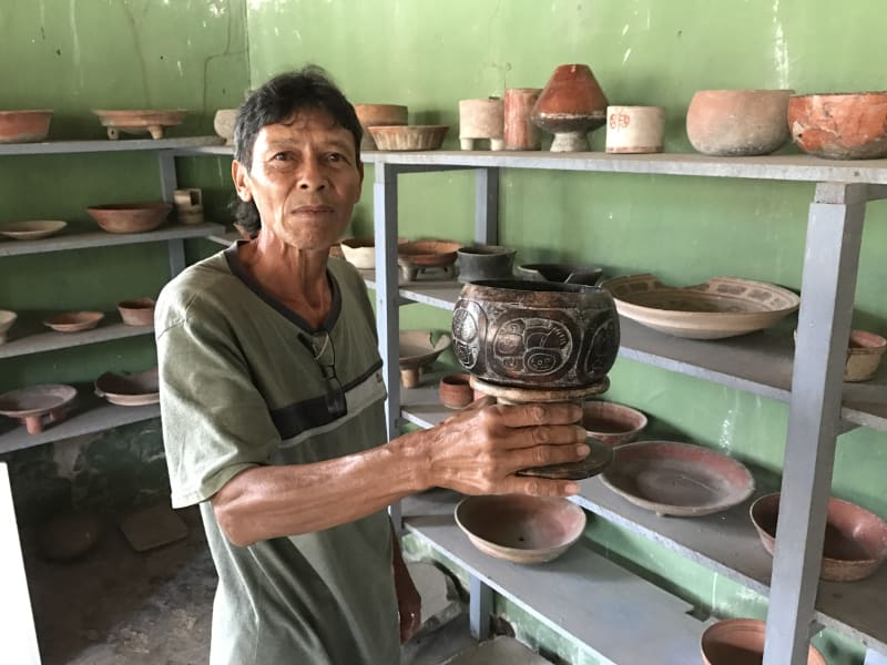 Lokal Adventures Immersive Guatemalan Culture and Nature Adventure Antigua to Peten Guatemala An 2000 year old cup, one which the king used to drink hot chocolate out of!