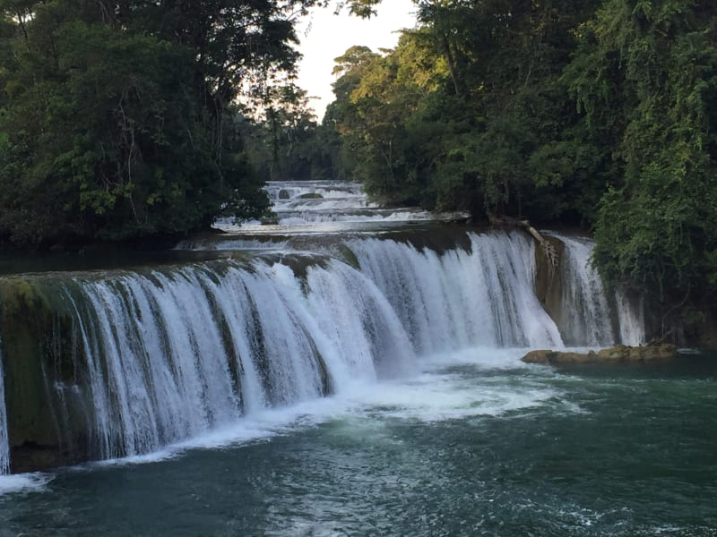 Lokal Adventures Immersive Guatemalan Culture and Nature Adventure Antigua to Peten Guatemala Swim in the waterfalls!
