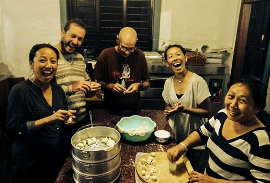 Royal Mountain Travel People and Culture of Nepal Kathmandu Nepal Momo-making with locals