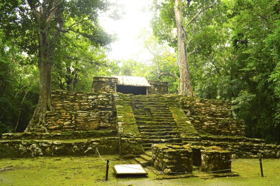 Sian Ka'an Community Tours Muyil Ruins and Float in Sian Ka'an Maya Canals Sian Ka'an Reserve Mexico Muyil Temple