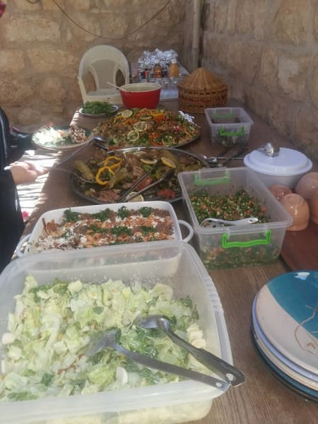 Iraq al Amir Women's Association Learn to Cook a Traditional Jordanian Meal Iraq al Amir Jordan undefined