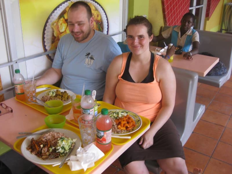 Countrystyle Community Experience Jamaican Taste Experience St. Elizabeth Jamaica Sitting down for some local eats