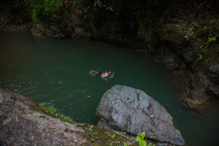 Lokal Adventures Epic Osa Rainforest Adventure Osa Peninsula Costa Rica Take a refreshing dip in the 'El Salto' swimming hole. Feels great after a good hike!